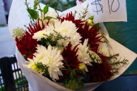 Researching wedding flowers.